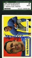 Andy Robustelli 1994 1957 Topps Archives Jsa Slabbed Certified Sgc Autograph