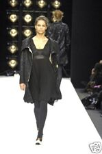 BASSO & BROOKE  Black Pleated Silk Dress  NEW  40  6