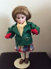 """Norman Rockwell """"The Dr. & The Doll"""" series Porcelain Doll with stand"""
