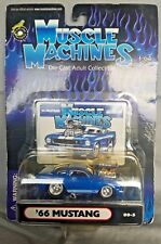 Muscle Machines 1966 Mustang GT350 66 Ford Mustang Blue w/white stripe 00-5
