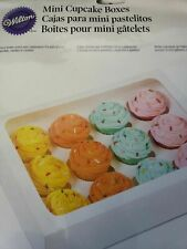 Mini cupcake boxes pack of 3 boxes with inserts Wilton