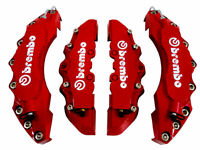 HIGH QUALITY BIG & MEDIUM RED CAR BRAKE CALIPER COVERS KIT FRONT REAR 4 PCS