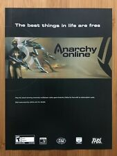 Anarchy Online Pc 2001 Vintage Poster Ad Print Art Official Promo Mmo Rpg Rare