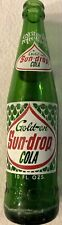 Golden Sun-Drop Cola 1950s Green Glass Bottle Rocky Mount NC 10 oz. - RARE!
