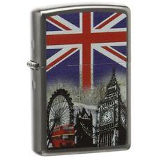Zippo London Scene Satin Chrome Regular Lighter