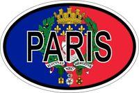 Autocollant sticker ovale oval drapeau code pays paris