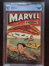 MARVEL MYSTERY COMICS #77 CBCS VF+ 8.5; OW-W; Torch vs. Sub-Mariner race cvr!