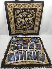 The Hobbit Tarot Set - Deck, Goddess Tote And Layout Cloth, Rose Quartz & Bag