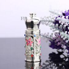 Handmade Vintage Mini Crystal Metal Perfume Bottle Empty Refillable Lady Gift