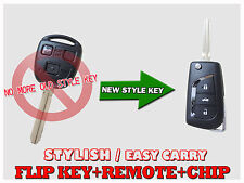 NEW Flip key Remote for toyota Landcruise Avensi Verso Torago Corolla Rav4 TF304