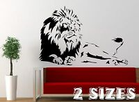 LION WALL ART QUOTE DECAL sticker home FAMILY MURAL graphic ZOO ANIMAL transfer