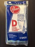 Genuine HOOVER Vacuum Bag Dial - A - Matic Style D   #4010005D  3 pack  NEW