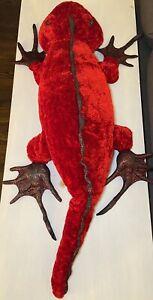 "Vintage Dan Dee Collector's Choice 44"" Red Chameleon Lizard Salamander Plush"