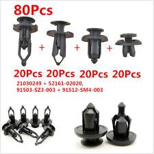 80Pcs Car Push Pin Rivet Retainer Body/Bumper Trim Panel Moulding Fastener Clips