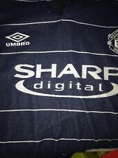 Man Utd Sharp Digital Away Shirt In VGC