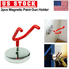 Magnetic Paint Spray Gun Holder Stand Gravity Feed HVLP Wall Hook Hanger Tool US