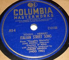 Columbia C10148 Jane Powell I Think of You / Italian Street Song 78 RPM E+ E+