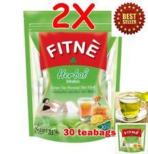 60 Teabags FITNE Herbal Green Tea Drink Good Shape Quick Slim Detox Diet Tasty
