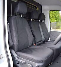 VW Crafter 2017+ Heavy Duty Waterproof Van Seat Covers Genuine Fitting in Black