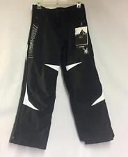 Spyder Kids Force Snow Ski Winter Pants Black White Size Boys 10 NEW