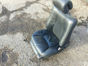 MERCEDES S CLASS W220 2002-2005 DRIVER SIDE RH O/S FRONT BLACK LEATHER SEAT