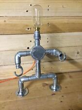 """""""lightbot"""" il Steampunk Robot Lampada da tavolo, di acciaio industriale luce, cavo vintage"""