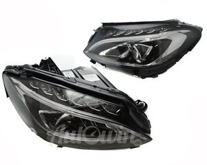 MERCEDES BENZ C-CLASS W205 2014- HEADLIGHT LED RIGHT AND LEFT SIDE GENUINE NEW
