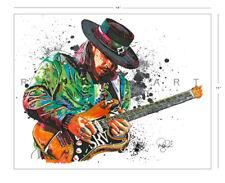 "SRV Stevie Ray Vaughan Texas Blues Guitar 11x14"" Music Art Print Poster"