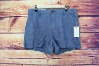 """NWT A NEW DAY/Target Women's 5"""" Chino Shorts-Blue chambray size 8"""