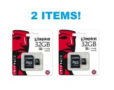 X2 !! Authentic Brand New Kingston 32GB Micro SDHC-i Class 4