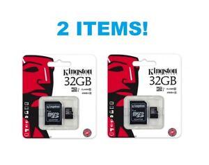 X2 !! Authentic Brand New Kingston 32GB Micro SDHC-i Class 4