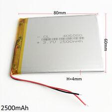 2500mAh 3.7V Lipo Batería de polímero para GPS mediados Banco de alimentación Tablet Pc + PCM 406080