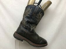 Ariat Brown Leather Waterproof Roper Cowboy Western Boots Mens Size 9 EE