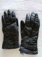 WILSONS Thinsulate Leather Driving Gloves Fleece Lined w/ inset Women's Size S-M
