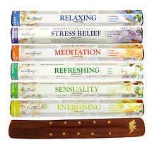 Stamford Aroma Range Incense Sticks with Wooden Incense Stick Holder (120 Stick)