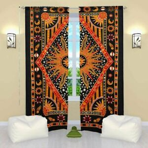 Indian Curtain Astrology Wall Mount Door Arched Window Home Décor Balcony Art