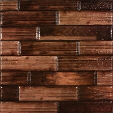 Wood Grain Wall Tile Self Adhesive Stick On and Peel Off 12x12 in.