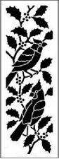 Stencils N Stuff Cardinals on Holly Banner Stencil Template Airbrush Paint 11.5