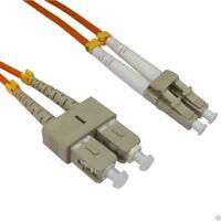OM2 Fibre Optic LC SC Duplex MM 50 125 Patch LSZH Cable 1m Orange