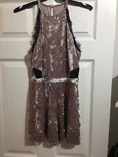 Designer At Debenhams Dusky Pink Crushed Velvet Playsuit Size 12
