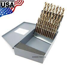 Norseman 26pc LETTER Stubby Screw Machine Length M7 Drill Bit Set USA SPT-26