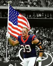 JJ WATT AMERICAN PATRIOT Houston Texans Premium NFL POSTER Print