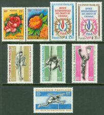 EDW1949SELL : Français Polynésie 1962-69 Scott # 196-97,241-42,247-50 Catalogue