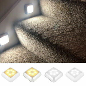 6 LEDs Motion Sensor Lights PIR Wireless Night Light Cabinet Stair Battery Lamp