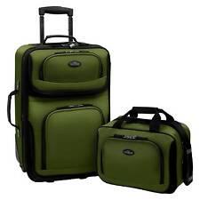 U.S. Traveler Rio 2pc Expandable Carry On Luggage Set - Green
