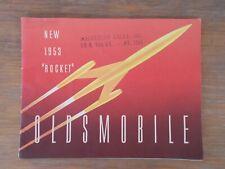 "1953 OLDSMOBILE ""ROCKET""  Brochure  - Original"