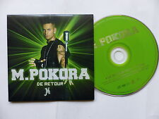 CD  single M POKORA De retour Feat TYRON   1105 PROMO