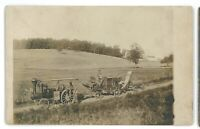 RPPC Steam Engine Threshing Machine MCALISTERVILLE? PA Real Photo Postcard