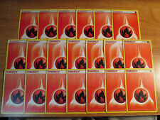 20x Pokemon FIRE ENERGY Card New Gen Style Set DECK Building/Play Flame Red TCG