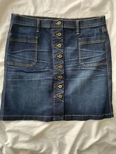 ORVIS Button Front Denim Skirt, Stretchy, New With Tags